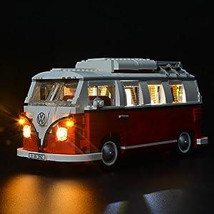 BRIKSMAX VW T1 Camper Van Kit di Illuminazione a LED- Compatibile con Il Modello Lego 10220 Mattoncini da Costruzioni… 0753318439849 LEGO