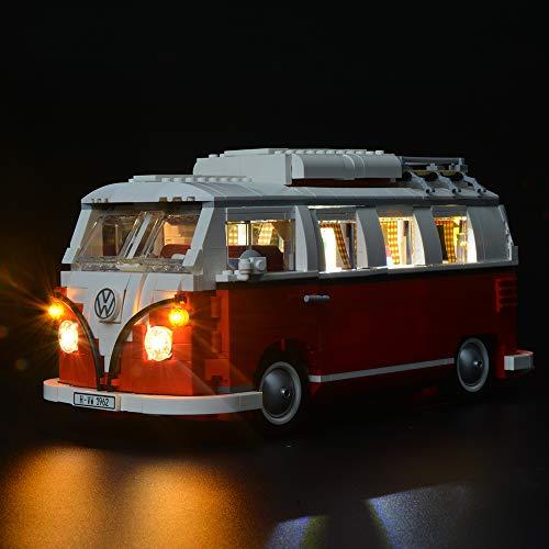 Briksmax Volkswagen T1 Campingbus Led Beleuchtungsset - Kompatibel Mit Lego 10220 Bausteinen Modell - Ohne Lego Set