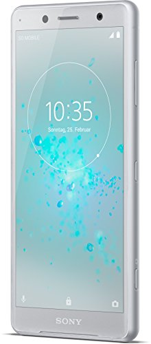 Sony Xperia XZ2 Compact Smartphone (12,7 cm (5,0 Zoll) IPS Full HD+ Display, 64 GB interner Speicher und 4 GB RAM, Dual-SIM, IP68, Android 8.0) white silver - Deutsche Version (Wlan-adapter Sony-kamera)