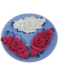 Auket 6.6cm Fondant Fleur Gâteau au chocolat Décoration de savon de moule de silicone Outil bricolage (3DMold-97)