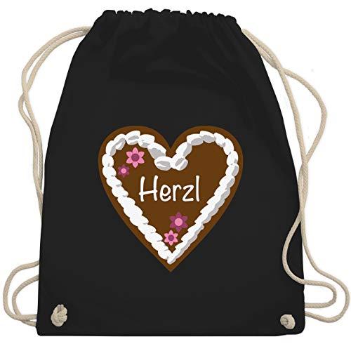enherz Herzl - Unisize - Schwarz - WM110 - Turnbeutel & Gym Bag ()