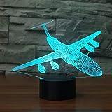 Air Plan 3D illusion Lampe LED Avion Veilleuses Nuit Usb 7 Couleur Lumière de Bureau Ambiance Lampe Nouveauté Éclairage Cadeau Pour Enfants