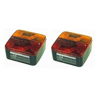 leisure MART 2x hinten Trailer Leuchten Lampen Vier Funktion (Paar) geeignet für Trailer Beleuchtung Boards PT Keine. lmx1717
