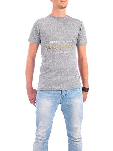 """Design T-Shirt Männer Continental Cotton """"Your peace"""" - stylisches Shirt Typografie Liebe von Isabel Lanz Grau"""