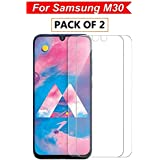 Samsung Galaxy M30 Tempered Glass (Pack of 2) by WOW Imagine (with Installation Kit)