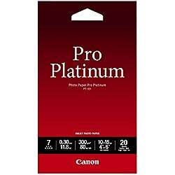 Canon PT-101 Papier Photo Pro Platinum Format 10x15cm (20 feuilles)