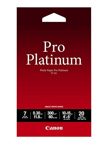 Canon PT-101, 10 x 15 cm Professionell Fotopapier Platinum (300 g/qm), 20 Blatt - Ii Photo Plus Paper Glossy