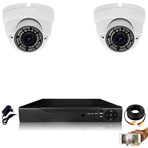 Kit-videovigilancia-2-Cmaras-Pro-Full-AHD-1080P-Sony-24-MP--4000-GB-2-Cable-de-40-M-pantalla-19