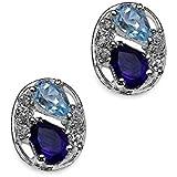 Silvancé - Women's Earrings - 925 Sterling Silver - Genuine Amethyst - E371ABT_SSR