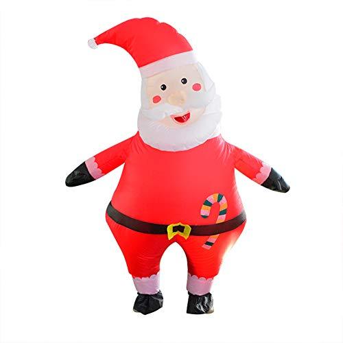 Aufblasbares Kostüm, Weihnachtsmann-Kostüm, lustiges Cosplay-Kostüm, aufblasbares Kostüm für (Kuh Maskottchen Kostüm Für Erwachsene)
