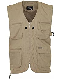 Mens Summer Waistcoat With Multi Pockets Outside Gilets