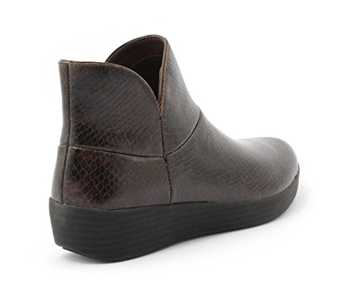 II Supermod Leather Chocolate Boots Snake Ankle FitFlop pICwqTq