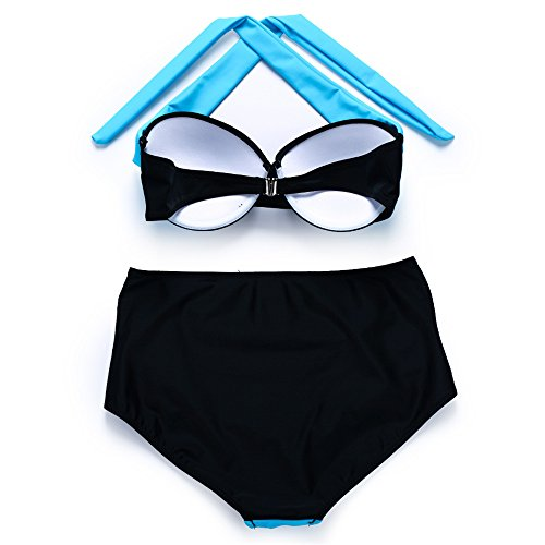 JOTHIN 2017 Frauen Pushup High Waist Bademode Sommer Neckholder Badeanzug  BikiniSet 04