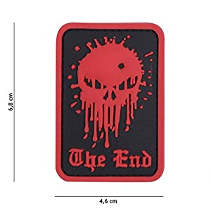 "Patch 3D PVC Punisher ""The End"" Rouge / Cosplay / Airsoft / Camouflage"