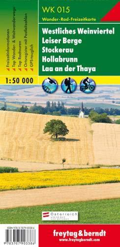 Freytag Berndt Wanderkarte, WK 015, Westliches Weinviertel - Leiser Berge - Stockerau - Hollabrunn - Laa an der Thaya - Maßstab 1:50.000 (freytag & berndt Wander-Rad-Freizeitkarten)