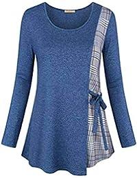 Vectry Rebajas Mujer Camiseta con Manga Larga Camiseta Lisa Camiseta Estampada Sudadera De Moda Sudadera Batata Blusa Elegante Blusa De Moda Sudadera Lisa