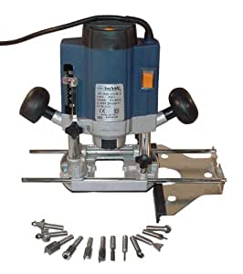 Défonceuse ELEM TECHNIC 1020 Watts 8mm + 12 Fraises DF1020-12CB