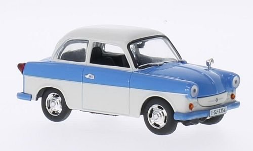 Trabant-P50-Limo-weisshellblau-Modellauto-Fertigmodell-SpecialC-75-143