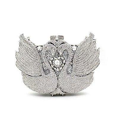 BSF Damen PU / Metall Formell / Veranstaltung / Fest / Hochzeit Unterarmtaschen Silver