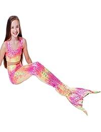 Bigood Ropa Bebé de Nadar Forma de Lunares de Sirena Princesa con Braga