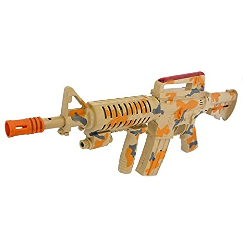 Military Solider Army Camo Toy M16 Gun With Grenade Launcher Battery Powered with Lights and Sounds