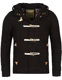 5f503ddda054 Herren gefütterte Headline Winterjacke Kapuze der Marke Young   Rich Jacke  Parka Dufflecoat Mantel in verschiedenen
