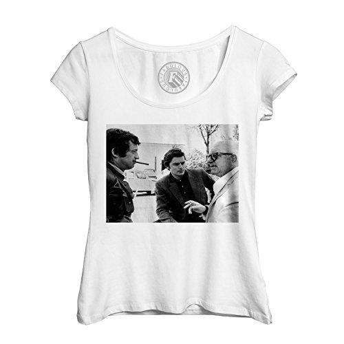 Woman Round Collar T-Shirt jean jean paul belmondo Gabin alain delon