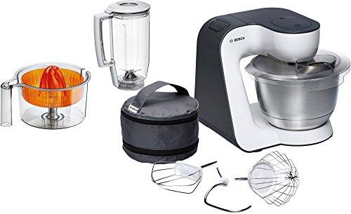 Bosch MUM50123 Küchenmaschine kompakt Weiß/Anthrazitgrau.