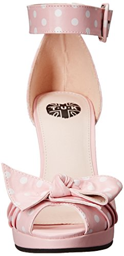 TUK STARLET Polka Dots ANKLE Riemchen BOW Pin Up HIGH HEELS Schuhe Rockabilly -