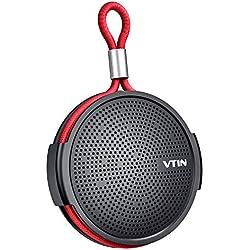 Vtin Q1 Altavoz Bluetooth , Altavoz impermeable de 8W, Altavoz portátil con Bluetooth 10H Tiempo de reproducción, Micrófono incorporado, Soporte de tarjeta SD, Adecuado para ducha, Playa, Exterior