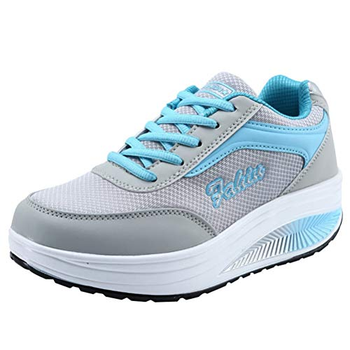 Frau Sportschuhe Mesh Breathable Lace Up Trainer Leichte weiche Unterseite Shock Absorbing Gym Athletic Sneakers -