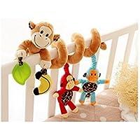 Affe-Baby-Krippe Activity Spirale Kinderwagen Spielzeug-Verpackung um Krippe Schiene oder Kinderwagen Spielzeug preisvergleich bei kleinkindspielzeugpreise.eu