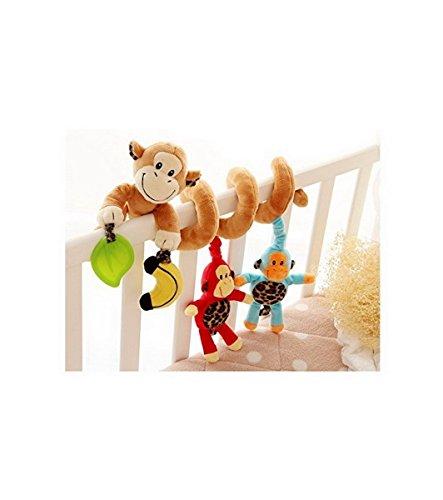 Affe-Baby-Krippe Activity Spirale Kinderwagen Spielzeug-Verpackung um Krippe Schiene oder Kinderwagen - Und Kinderwagen Baby-affe-autositz