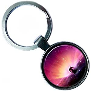 NASA Photograph Nebula Foto Nebel Silver Keychain Silber Schlüsselanhänger