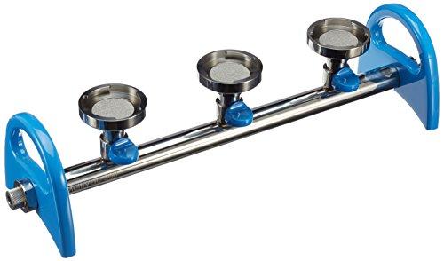Vakuum-Verteiler (Manifold) MultiVac 300-MB: 3 Abzweigungen mit Spin-lock Anschlüssen, aus Edelstahl, mit 5/16inch (8mm) Anschluss -
