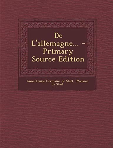 de L'Allemagne... - Primary Source Edition