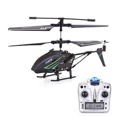 VATOS RC Helikopter Indoor mit Gyro und LED Lichtern 3,5 Kanäle Fernbedienung Hubschrauber Mikro RC Hubschrauber für Kinder und Erwachsene