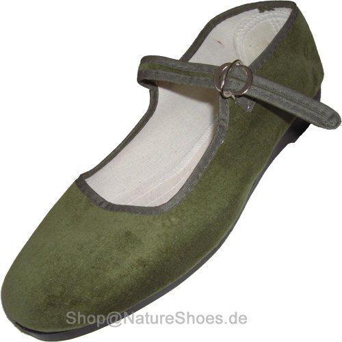 Cina scarpe di velluto numeri 33-42 vari colori - Oliva, 41