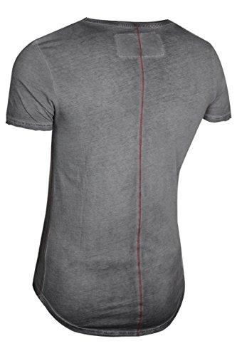 trueprodigy Casual Herren Marken T-Shirt mit Aufdruck, Oberteil cool und stylisch mit Rundhals (kurzarm & Slim Fit), Shirt für Männer bedruckt Farbe: Grau 1072181-0403 Anthracite