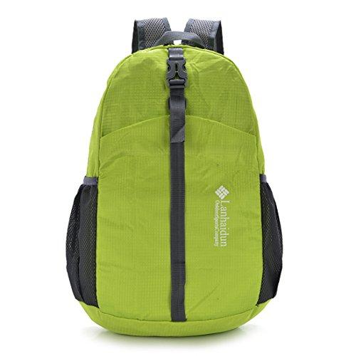TigerFighting Ultralight Packable Daypack dello zaino Zaino per il campeggio esterno di viaggio in bicicletta Verde