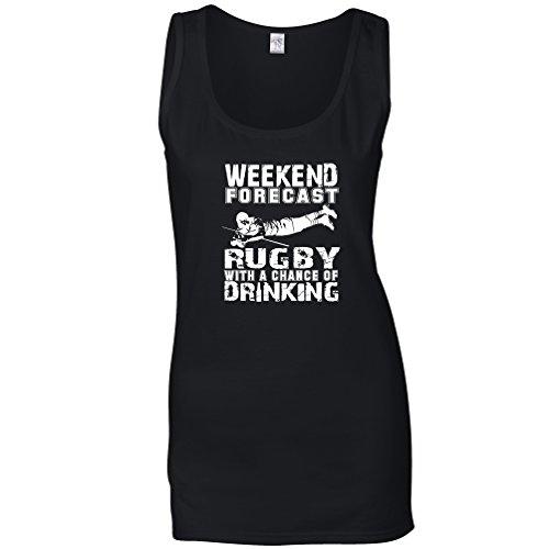 Tim and Ted Weekend Previsione Rugby Possibilità di Bere Sport League Maglia delle Donne Black