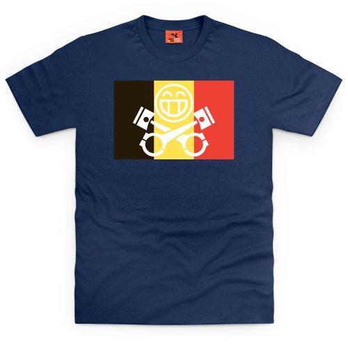 PistonHeads Belgium T-Shirt, Herren Dunkelblau