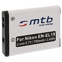 Batteria EN-EL19 per Nikon S01 S100 S2500 S2550 S2600 S2700 S3100 S3300 S3500 S4100.+ vedi lista!