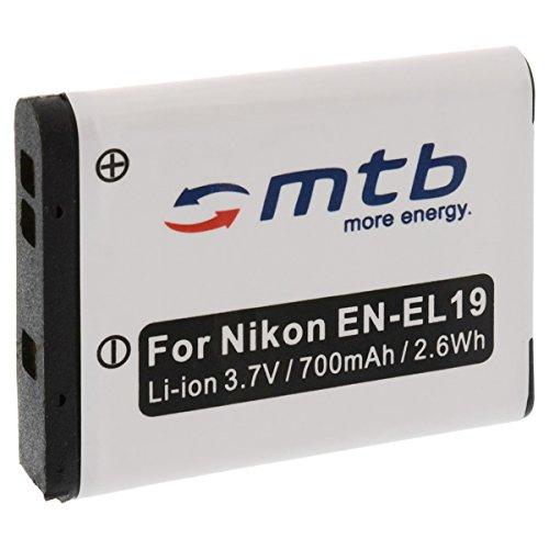 Ersatz-Akku EN-EL19 für Nikon S7000, S6800, S5200, S3600, S4400, S2500, S100, S32 / A300, A100, W100... - s.Liste