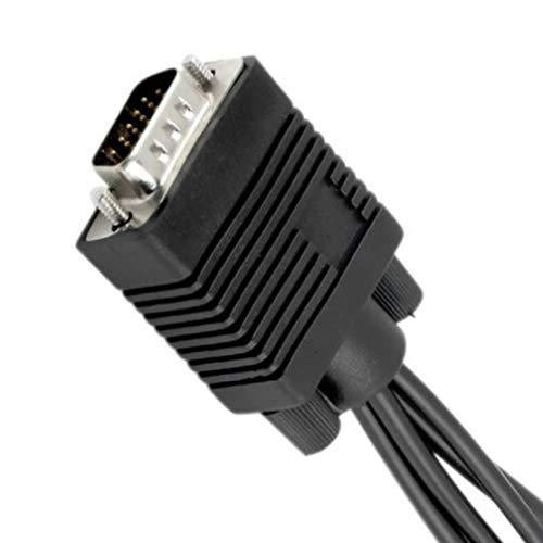 LouiseEvel215 HDMI auf VGA SVGA VGA auf S-Video 3 Cinch-Buchse Kabelkonverter VGA auf Video TV-Ausgang S-Video AV-Adapter ohne HDD-Splitter 12 S-video