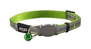Rogz Catz NightCat Collar, Lime