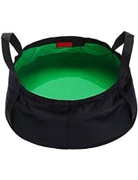 WINOMO 8.5L Collapsible Wash Basin Outdoor Basin Bucket For Camping Hiking Tra Elling Fishing Washing (Green)