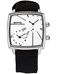 Naivo Men's Quartz Stainless Steel and Cloth Casual Color:Black (Model: WATCH-1117)