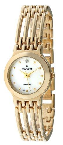 Peugeot Femmes 771G or-ton vraie montre bracelet de diamant