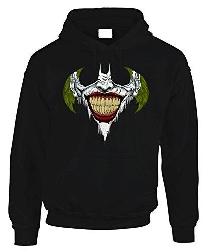 Felpa con cappuccio Joker Smile Batman movie in cotone by Fashwork